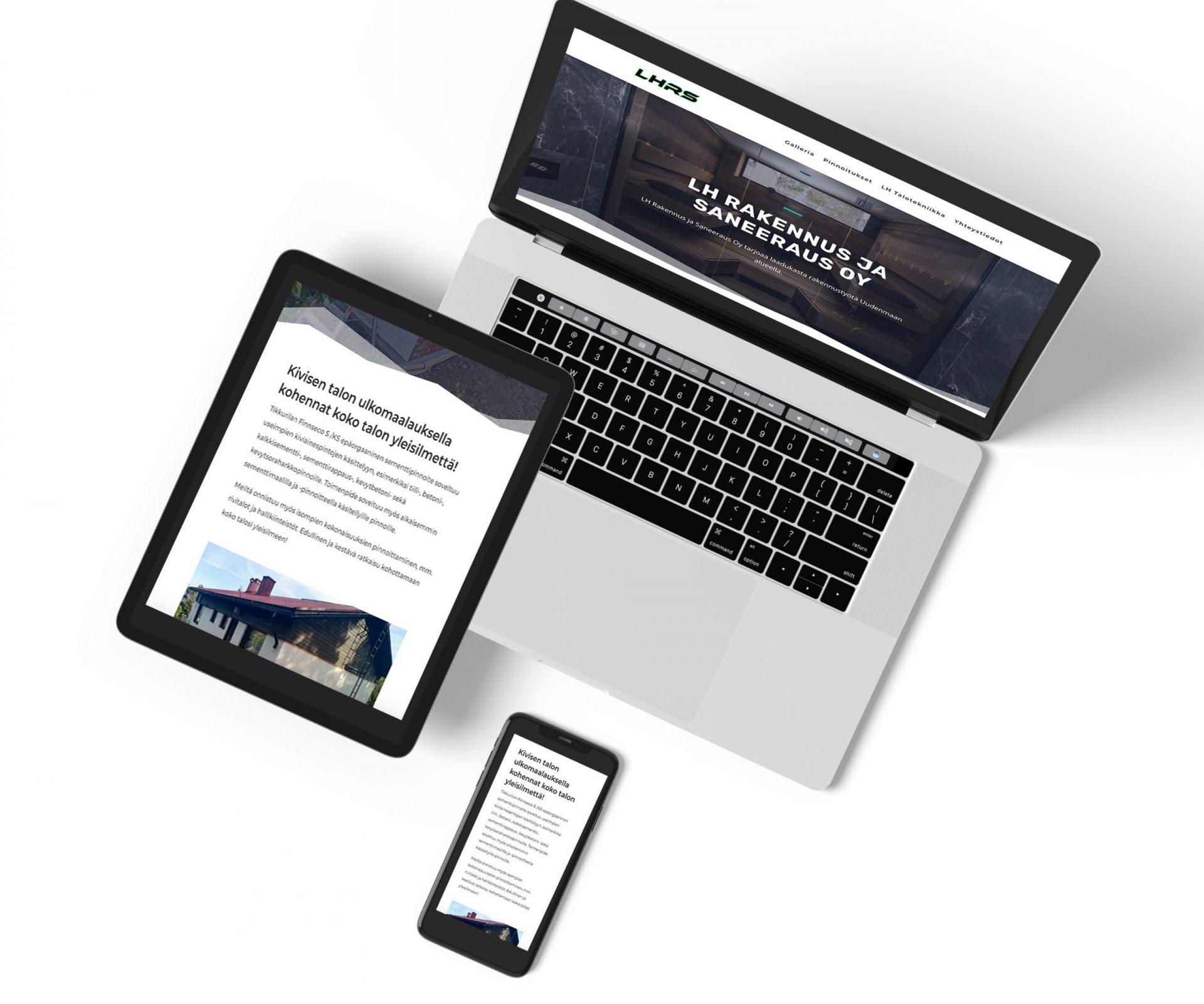 Nettisivut rakennus ja saneeraus
